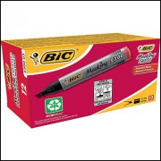 BIC 230003 MARKING 2300 PERMANENT MARKER CHISEL POINT 3.7MM AND 5.5MM RED BOX 12
