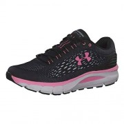 Under Armour Charged Intake 4 Zapatillas para Correr para Mujer, Negro (002)/Blanco, 10.5 US