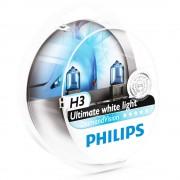 2 ampoules PHILIPS H3 Diamond Vision 55W