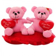 DealBindaas Heart In Hand Couple Valentine Stuff Soft Teddy (Assorted colours)
