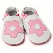 Pantofi cu talpa moale Liliputi Pink Flowers