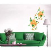Wall Stickers Home Decor Sticker Orange Flower For Corner Home Decor Tv Background