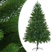 vidaXL Изкуствено коледно дърво, реалистични иглички, 180 см, зелено