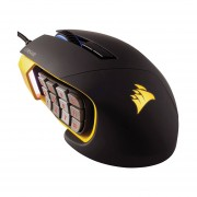 Mouse Corsair Alambrico Optico USB Scimitar PRO RGB MOBA/MMO Gaming (CH-9304011-NA)-Negro