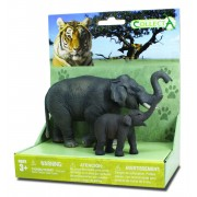 Set 2 Figurine Elefant Asiatic cu pui Collecta