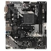 Дънна платка ASRock A320M-HDV R4.0, A320, AM4, PCIe (HDMI&DVI-D&D-Sub), 4x SATA3 6.0 Gb/s, 1x Ultra M.2 Socket, A320M-HDV_R4.0