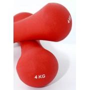 Set de 2 gantere din neopren - greutati - pentru fitness sau aerobic - 2 x 4 kg
