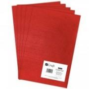 dpCraft Filc polyesterový - červený A4, (DPFC-007)