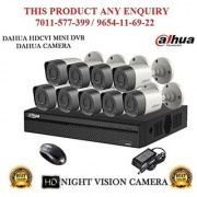 Dahua 1.3 MP HDCVI 16 CH DVR + Bullet Camera 9Pcs CCTV Combo