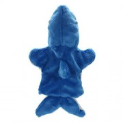 Chinatera Shark Hand Puppet Develop Tal Soft Doll Plush Toys Free Size Blue