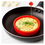 EY Anillo De Silicona Tortilla De Huevo Frito Shaper Huevos Molde Para Cocinar Desayunorojo
