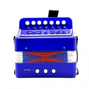HATCHMATIC HOT Sale Mini Small Children Keyboard Accordion Rhythm Educational Musical Instrument Band Toy for Kids: Blue