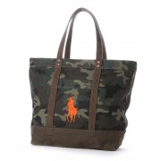 【SALE 38%OFF】ポロ Polo BIG PONY CAMO TOTE (GREEN CAMO/ ORANGE PONY) レディース メンズ