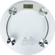 UNICORN ONMART Personal Weight Machine 8mm Thick Round Transparent Glass Weighing Scale(TRANSPARENT)