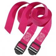 Set 2 ks upínací popruhy Master Lock 3005EURDATCOL - růžový - 180cm
