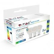 V-TAC GU10 5W 400lm 3000K 110 ° LED-izzó opál 3 db-os csomagban