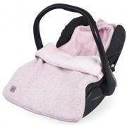 Sac de dormit tricotat Jollein Confetti pentru scaun auto si carucior 025-811-65140, Bumbac (Roz)