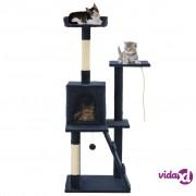vidaXL Penjalica za mačke sa stupovima za grebanje 120 cm tamnoplava
