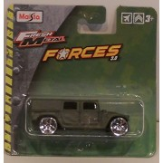 Maisto Fresh Metal Humvee With Rims Green (1:74 Scale)