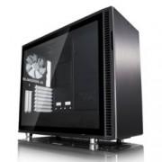 Кутия Fractal Design Define R6 Black TG, eATX/ATX/mATX/ITX, 2x USB 3.0, прозорец, черна, без захранване