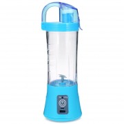 Electric Portable Juicer Cup Fruit Vegetable Juice Mixer-Azul