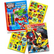 Asianhobbycrafts Transformers Rescue Bots Coloring and Activity Book Set (2 Books ~ 96 Pages) Dinobot, Optimus Prime,