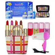 Super Combo Makeup sets With Hair Dryer Diamond Facial Kit 250g Etc