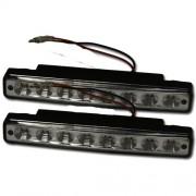 Světla denní LED 2 x 8 LED diod 2 x drát - LED homologovaná světla