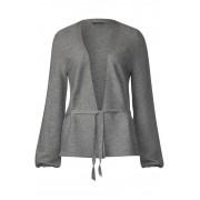 STREET ONE Zacht vest met ceintuur - frost grey melange