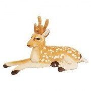 Stylewell Realistic Stitching Soft Stuffed Small Fantastic Toy Beauty of Jungle Deer for Home Car And Bedroom - 20 cm