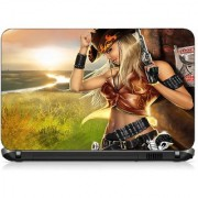 VI Collections ANIMATED WANTED GIRL pvc Laptop Decal 15.6