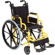 sedia a rotelle / carrozzina kiddy per bambini in acciaio - seduta 35c
