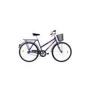 Bicicleta Aro 26 Houston Onix Fv Com Cesta Freio Varão Violeta