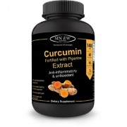 Sinew Nutrition Extra Bioavailable Organic Turmeric Curcumin Extract with Piperine-700mg 60 Veg Capsules (1400 mg/serve)