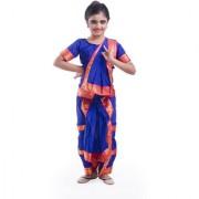Fancydresswale Bharatnayam dance blue dress Costume For Kids