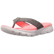 Skechers Performance Women's On The Go 400 Vivacity Flip Flop, Charcoal/Hot Pink, 6 M US
