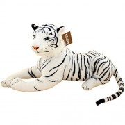 """Jesonn Realistic Soft Stuffed Animals Tiger Toy Plush for Kids' Gifts,White,18.9"""" or 48CM,1PC"""