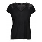 ONLY Loose Short Sleeved Top Kvinna Svart