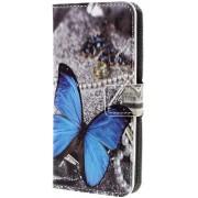 Knaldeals.com - Samsung Galaxy A8 Plus (2018) hoesje - Book Wallet Case - Blue Butterfly