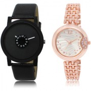The Shopoholic Black Silver Combo Treny and Precious Black And Silver Dial Analog Watch For Boys And Girls Mens Casual Watches