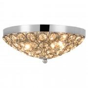 """[lux.pro] Mennyezeti lámpa """"Pátra"""" 13 x Ø 30 cm króm kerek kristály lámpa"""