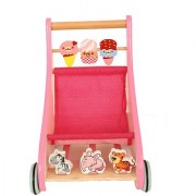 TINY Steps Walk along Wooden Baby Walker in Pink From TLF