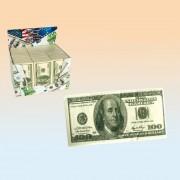 Servetele imprimate cu euro sau dolari