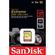 SanDisk SDXC 128GB 150MB/s 70MB/s Extreme SD Card V30 UHS-I U3 4K memorijska kartica SDSDXV5-128G-GNCIN SDSDXV5-128G-GNCIN