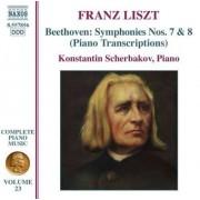 Beethoven/Liszt - Symphony No.7 & 8 (0747313285624) (1 CD)