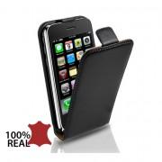 Apple iPhone 3GS Flip2 Кожен Калъф + Протектор