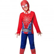 Pijama Masculino Infantil Veggi Manga Longa Personagem Super Herói Homem Aranha com Capuz
