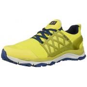 Jack Wolfskin Trail Invader Shield Zapatos de Senderismo para Hombre, Lime/Blue, 9 M US