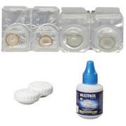 Optify Hazel-Brown Monthly Color Contact Lens (Zero Power Hazel-Brown)
