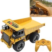 HuiNa Toys 540 1/18 2.4G 6CH Electric Rc Car Dump Truck Alloy Engineering Vehicle